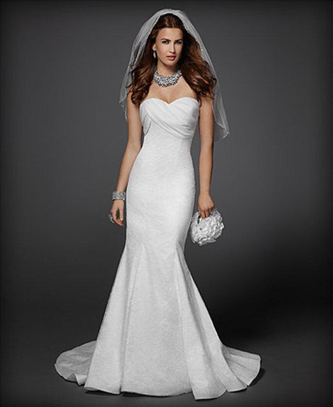 vestido de novia strapless estilo sirena foto coleccin rami kashou para bebe
