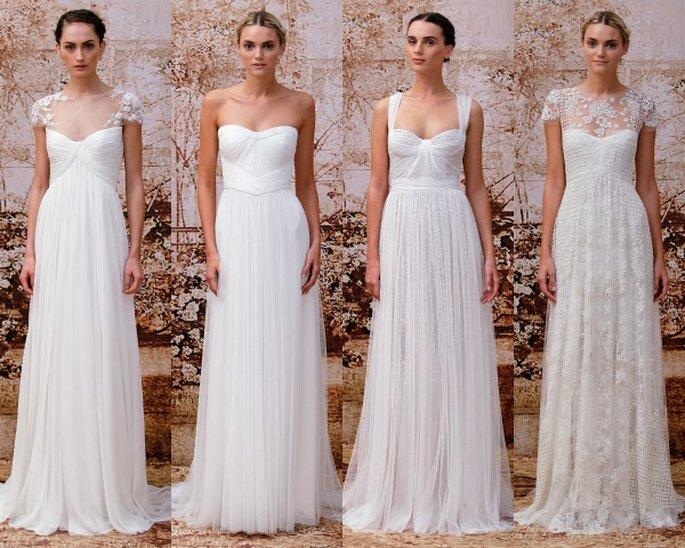 Vestidos de novia con corte imperio - Foto Monique Lhuillier