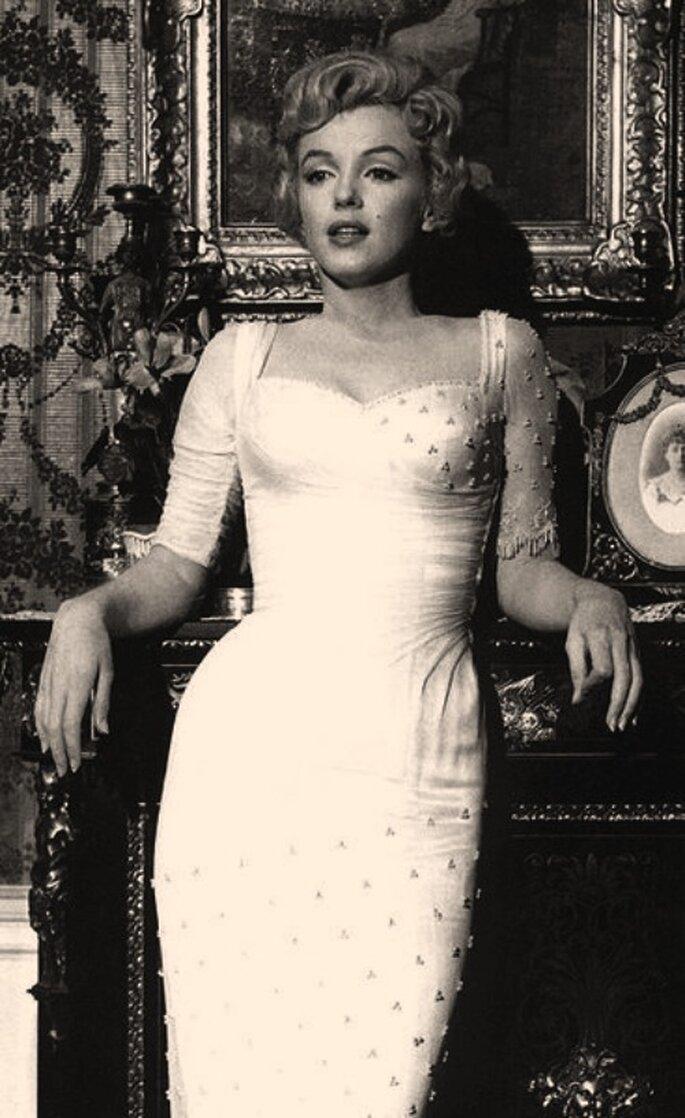 El peinado de Marilyn Monroe muy característico, perfecto para las novias vintage.
