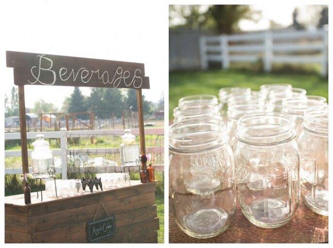 Bebidas súper originales para tu boda - Foto Zach Mathers Photography