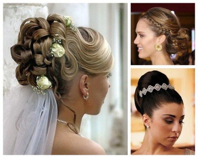 Elige un estilo de peinado recogido que mejor vaya con tu cabello.
