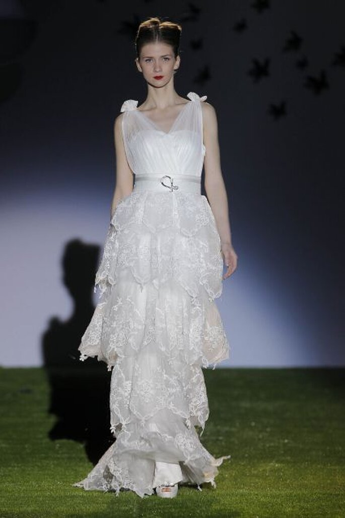 Vestido de novia de Miquel Suay 2014. Foto: Barcelona Bridal Week / Ugo Cámara