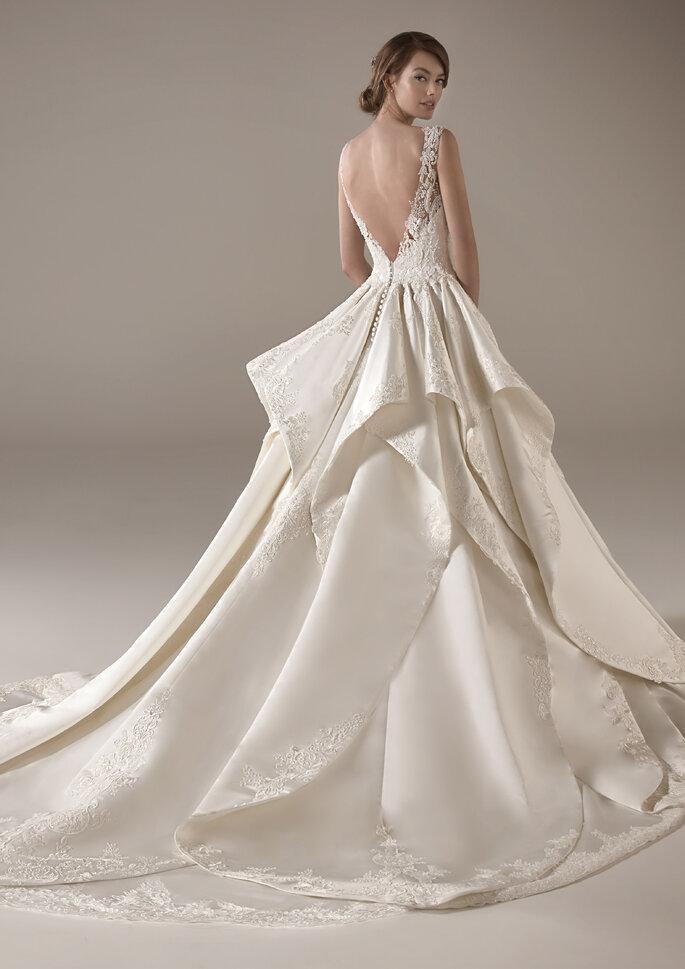 Vestido de novia con espalda descubierta