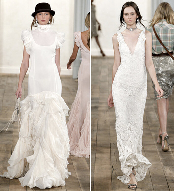 Vestidos de novia sencillos. Foto: Styledotcom
