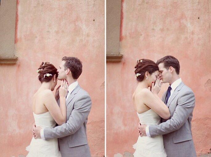 El reportaje 'First Look' rompe con la tradición. Foto: Simply Bloom Photgraphy.