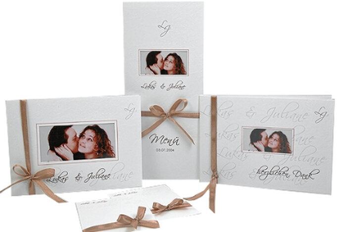 Hochzeitskarten-Set mit Foto