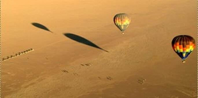 Hochzeitsreise nach Afrika ins Namib Rand Reservat - Ballonfahrt