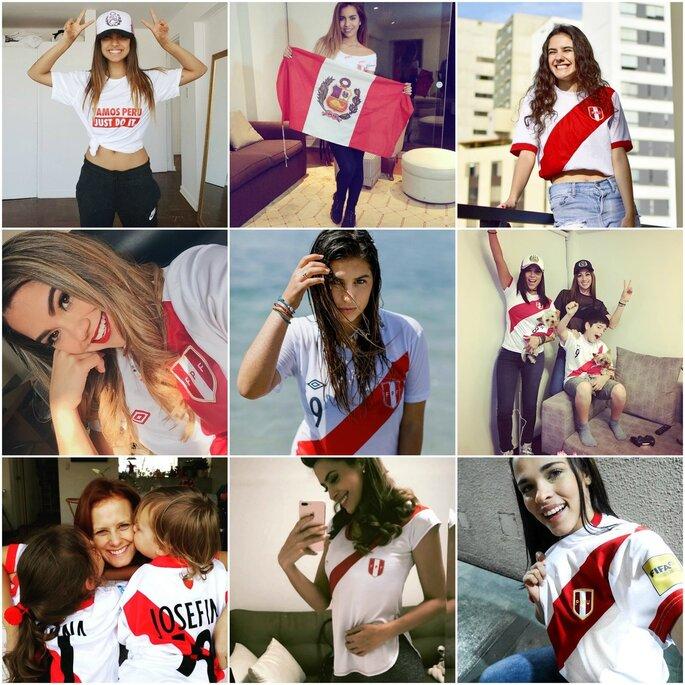 Famosas peruanas apoyando a la selección