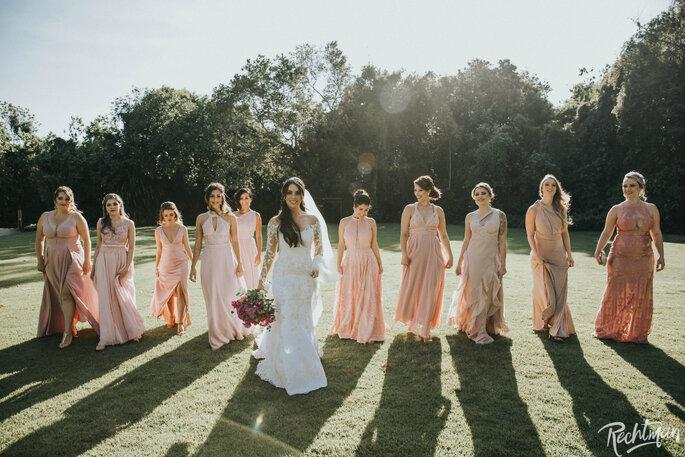 Ensaio da noiva e madrinhas