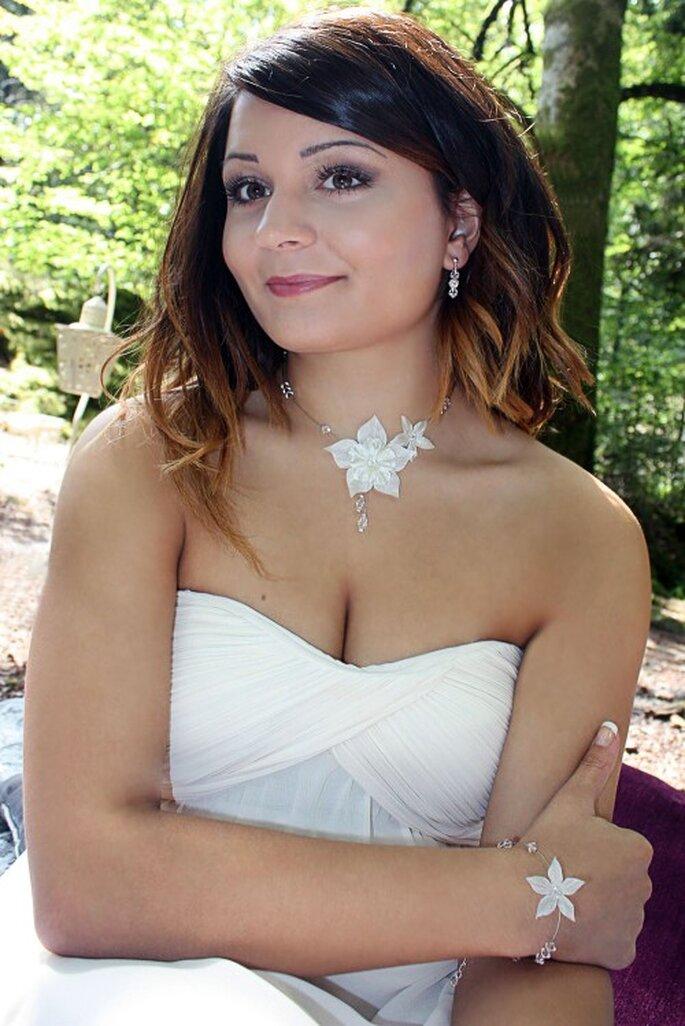 Bijoux et accessoires comptent pour beaucoup dans l'allure de la mariée - Photo : Nuage de Perles