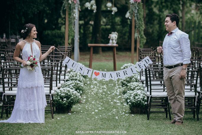e30ec43cbb O casamento folk ao ar livre APAIXONANTE de Mayara   Guilherme.