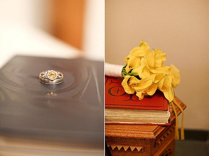 Bouquet de mariée de couleur vive : une tendance 2013. Photo: Gabriel and Clarins Photography