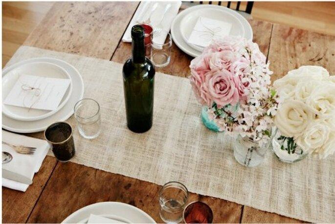 Juega con la suavidad del lino y elígelo para darle armonía a tu boda - Foto Kelly Oshiro