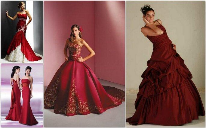 Vestidos de novia rojos de Annika