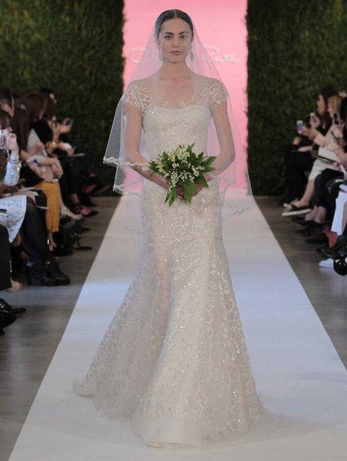Encaje y mucho romanticismo: así son los vestidos de novia de Oscar de la Renta - Colección Primavera 2015 Foto: www.oscardelarenta.com