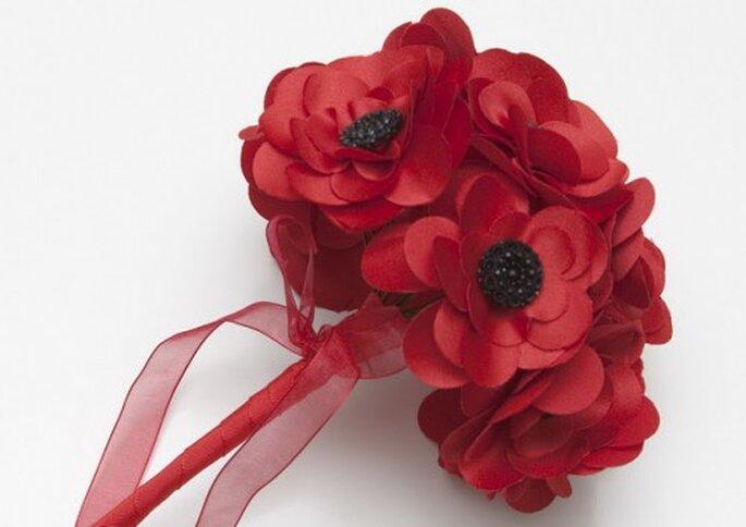 Amapolas en tela para ramo de novia