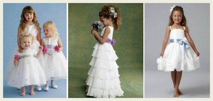 Las niñas damitas de honor le impregnan un toque de ternura a la boda