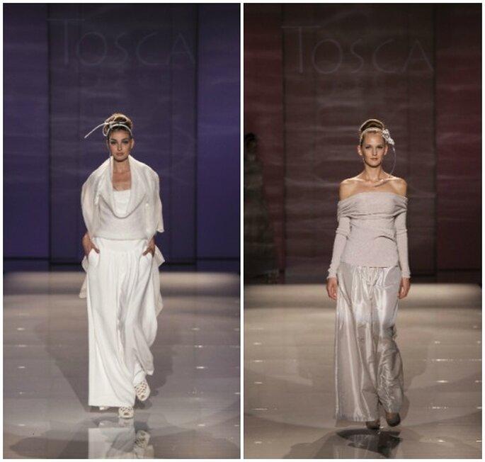 Due proposte più informali per la sposa cosmopolita. Tosca Spose 2013. Foto: Sì Spositalia Edizione 2012
