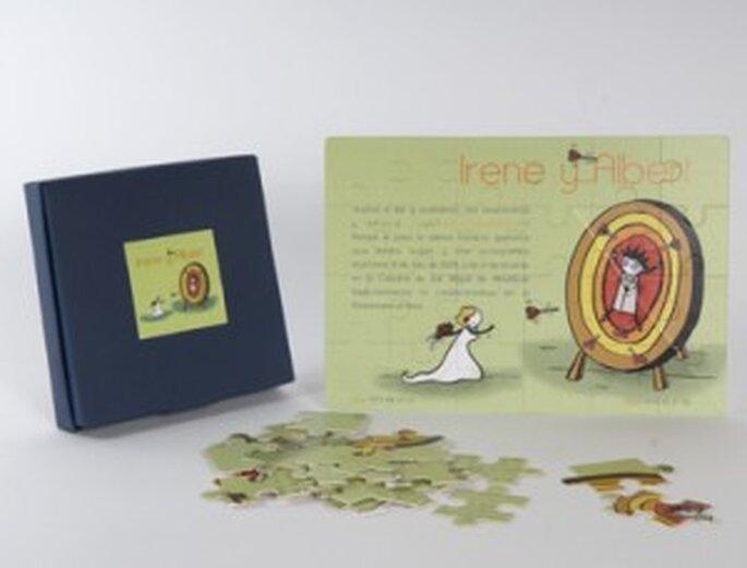 Invitaciones puzzle para bodas 2010.