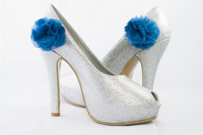 Si tu decoración de boda tiene toques azules, estos son los zapatos que buscas. Foto: http://adriana-capasso.tumblr.com