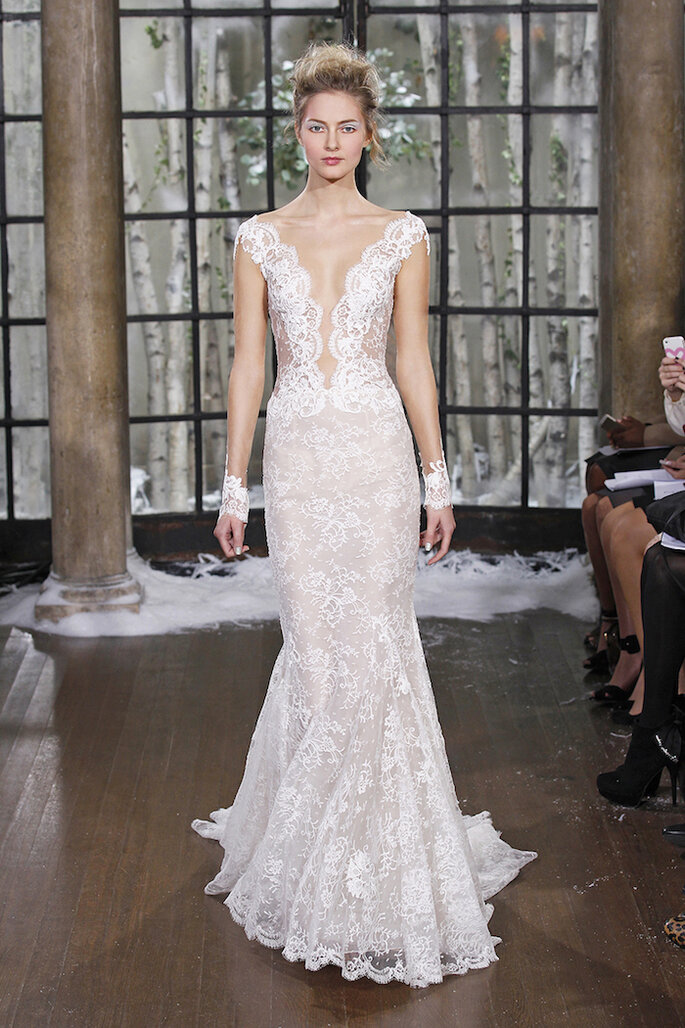 El vestido de novia ideal para las chicas de poco busto - Ines Di Santo
