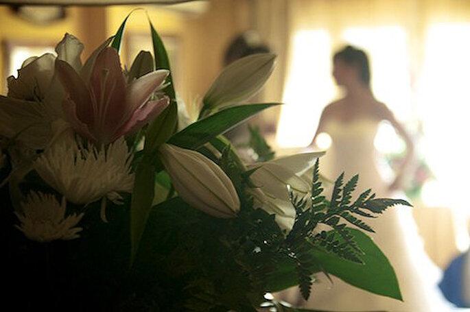 La novia, María, horas antes de dar el 'sí quiero'. Foto: StudioBoda