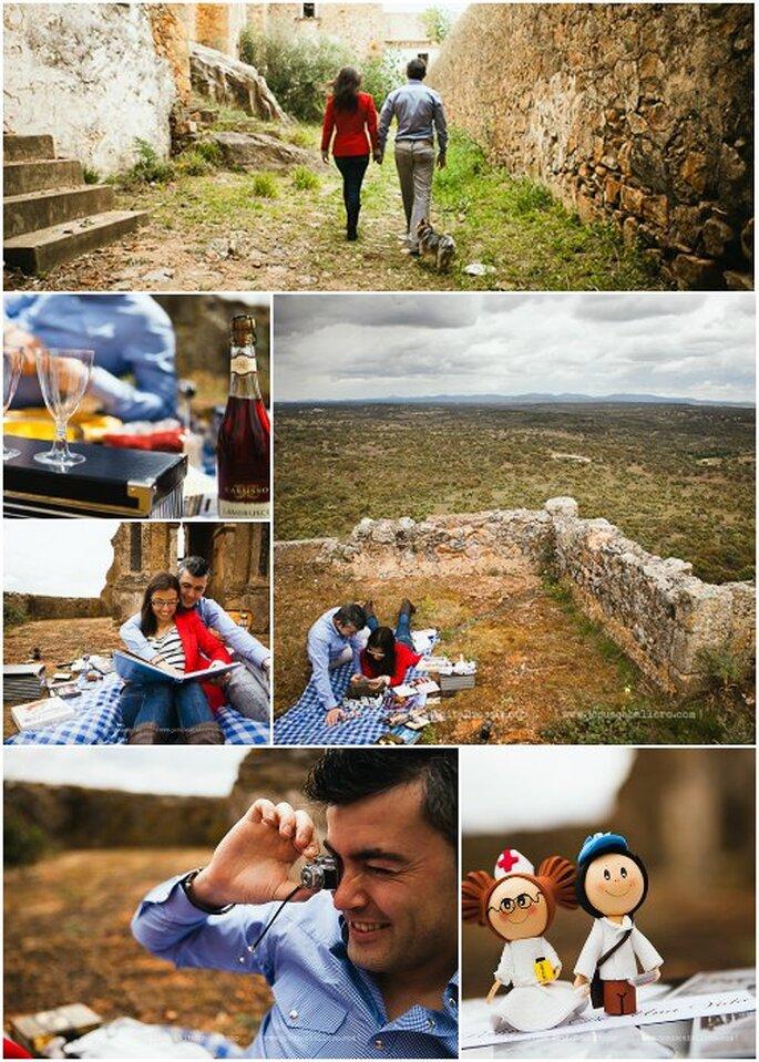 Lorena y Pedro llevaron consigo toda suerte de recuerdos, para hacer la preboda aún más intima y personal. Foto: Jesús Caballero