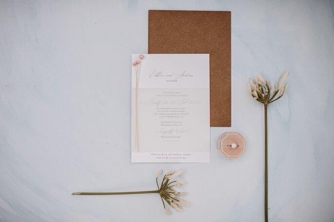 Papeterie Hochzeit rustikal romantisch