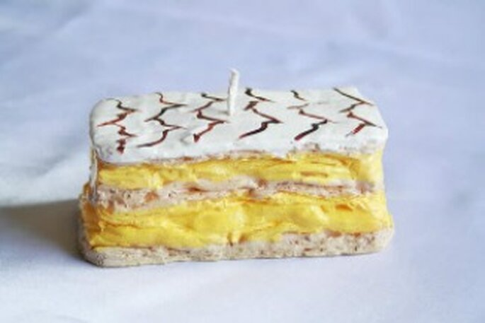 Bougie gâteau millefeuille