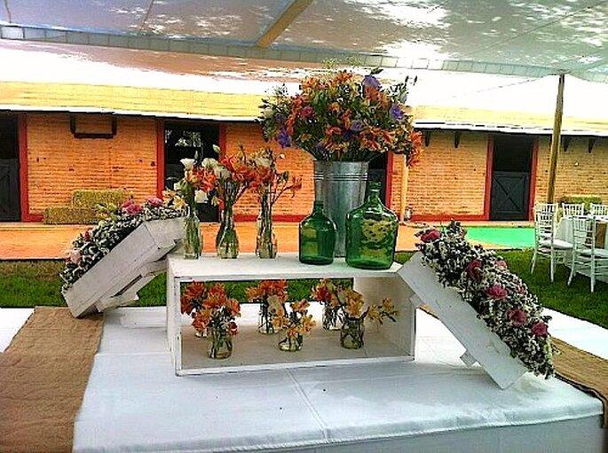 Decoraci n r stica para matrimonios campestres for Decoracion rustica campestre