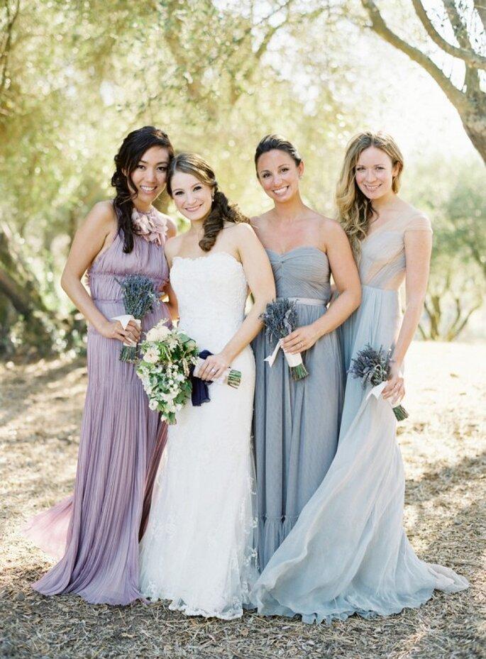 Cómo combinar los vestidos de tus damas de boda - Jose Villa