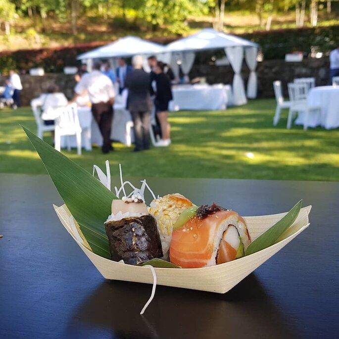 sushi para casamento