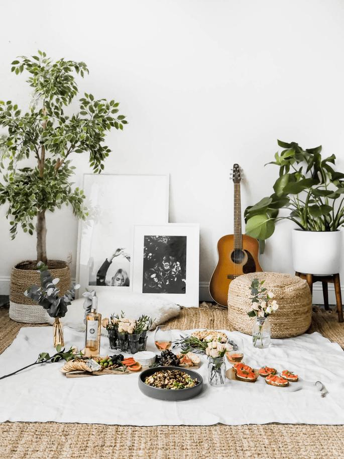 Picknick zu Hause
