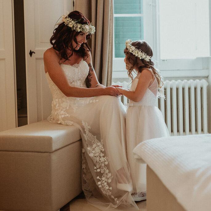 Mamma e figlia il giorno del matrimonio