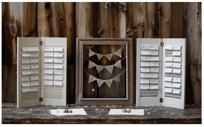 Elige diseños divertidos para el acomodo de tus invitados - Foto Hales Studio