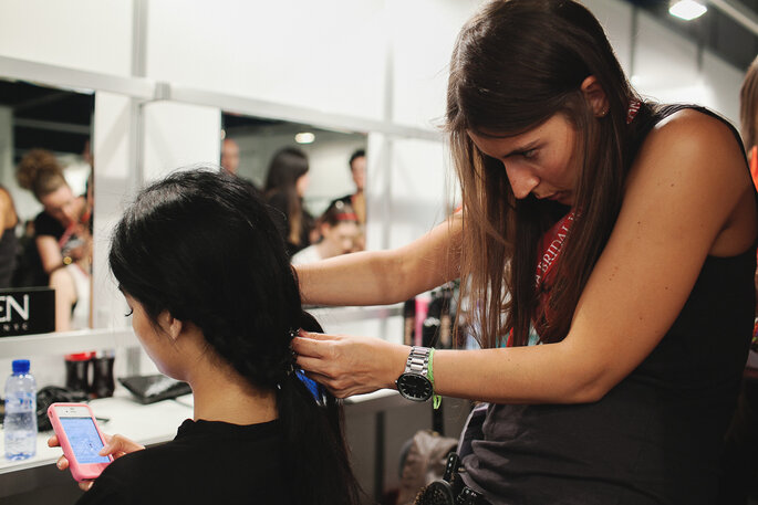 Backstage Barcelona Bridal Week