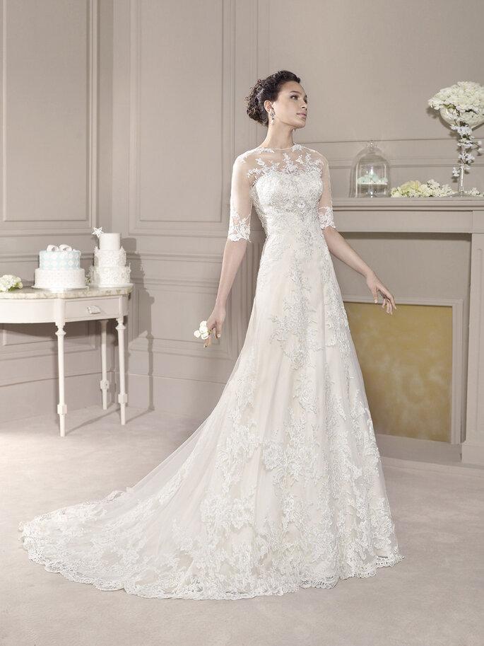a0abcdb25e4f Abiti da sposa con trasparenze per il 2015  il mix perfetto di ...