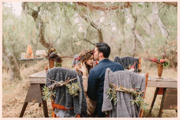 Winter-inspired engagement shoot
