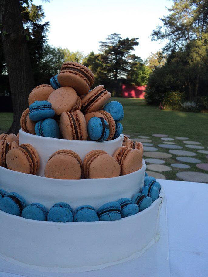 """Nuevos invitados a la mesa de dulce de tu boda, los """"macarons"""". Foto: En el Nombre del Postre"""