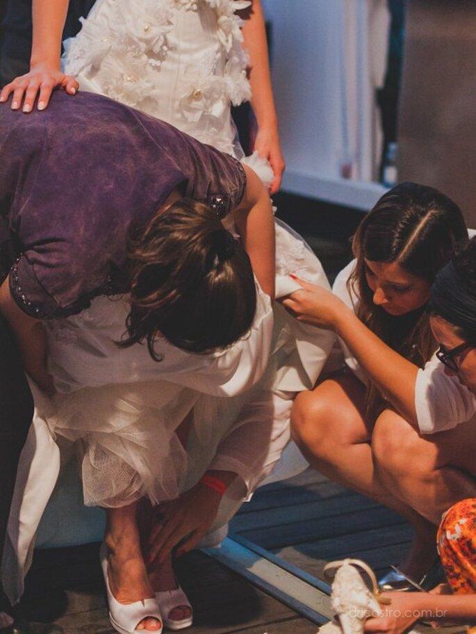 Nos últimos ajustes no Bride Style 2013. Foto: Dri Castro