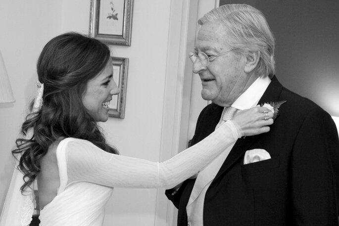 Paula con su padre. Foto Click10