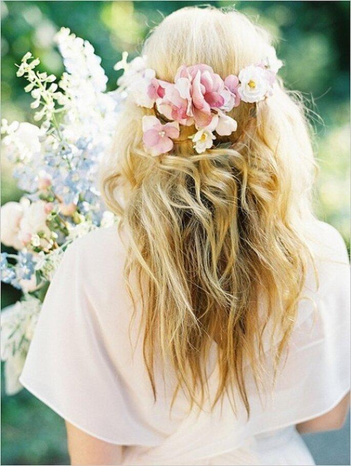 Corone di fiori per la sposa boho