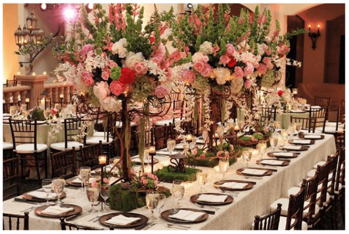Los centros de mesa con flores más elegantes para 2014 - Foto Zach Brake Photography