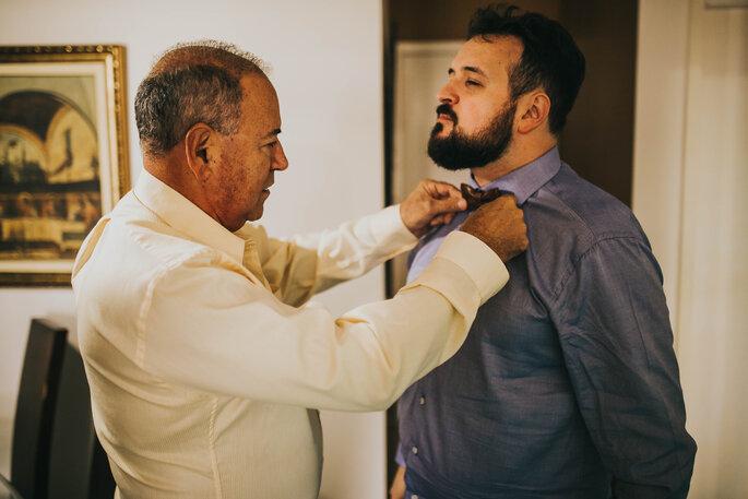 preparação do noivo