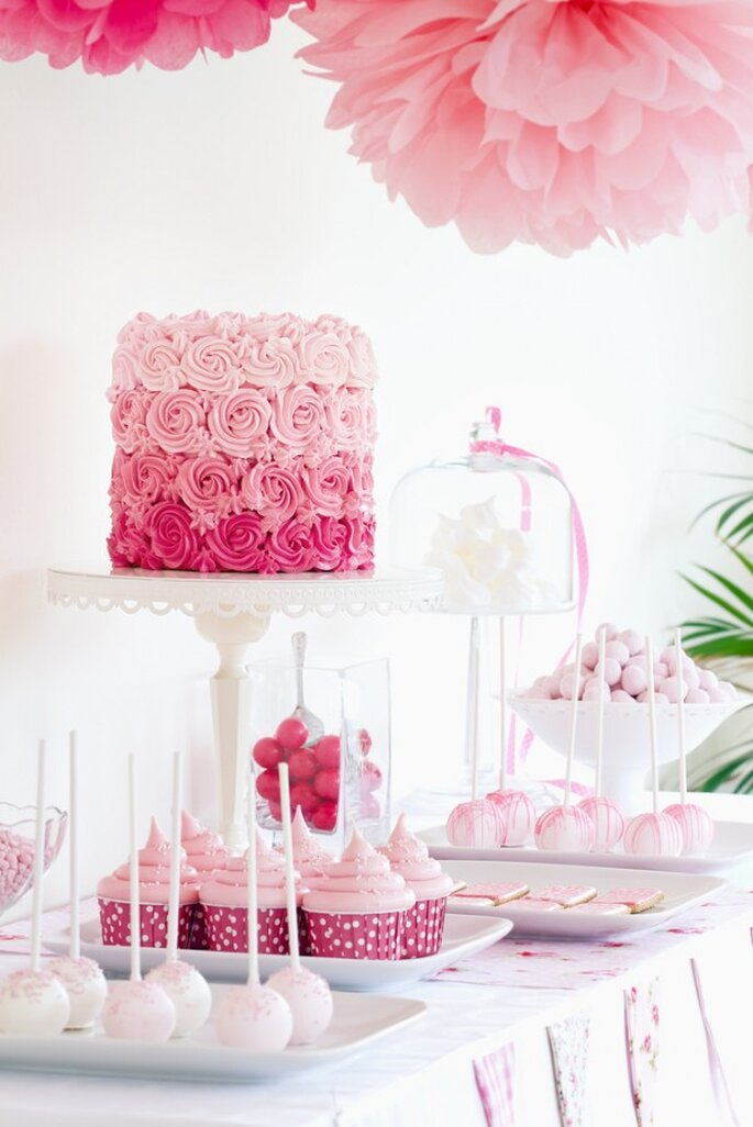 Rosa y más rosa: Enamórate de la más hermosa decoración de boda con ...