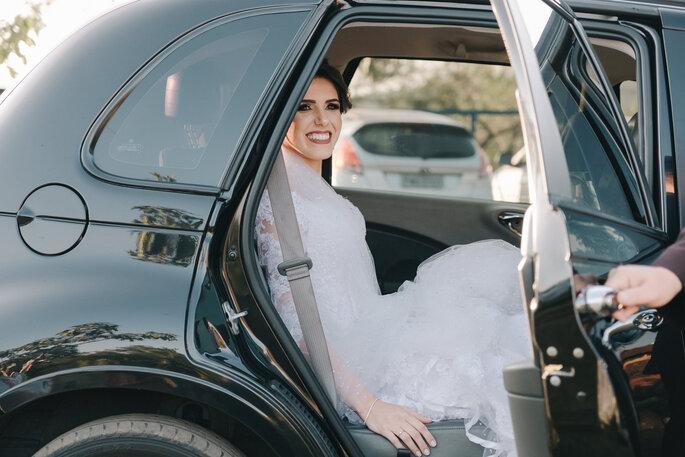 chegada noiva casamento