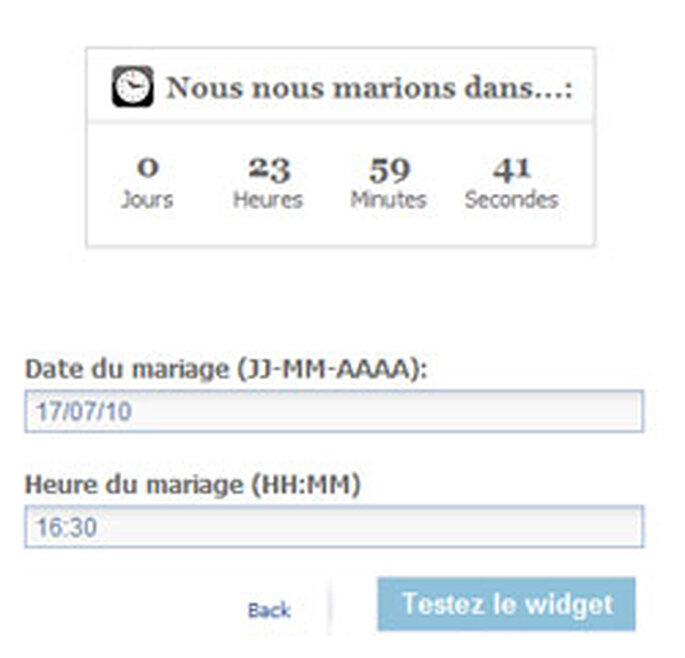 Du nouveau sur votre site web de mariage - Compte a rebours mariage ...