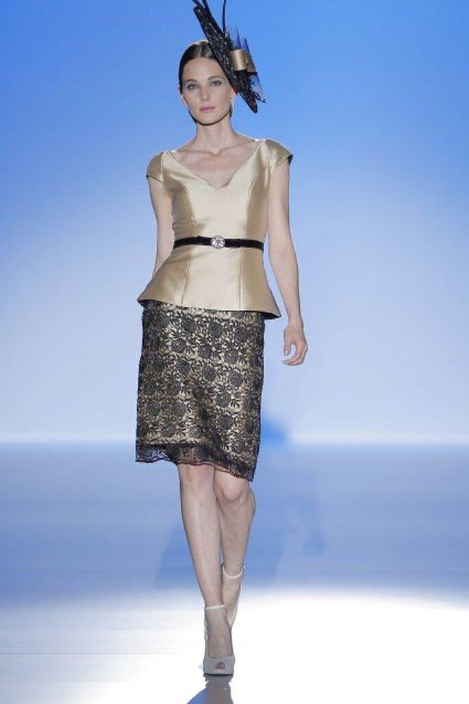 Vestido de fiesta de Franc Sarabia 2014