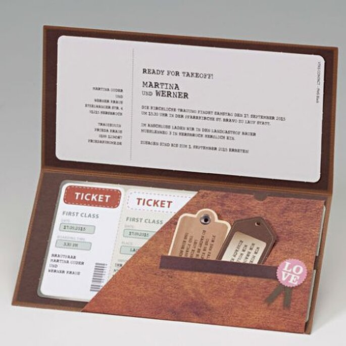 Einladung im Stil von Tickets, Foto: Cela Design