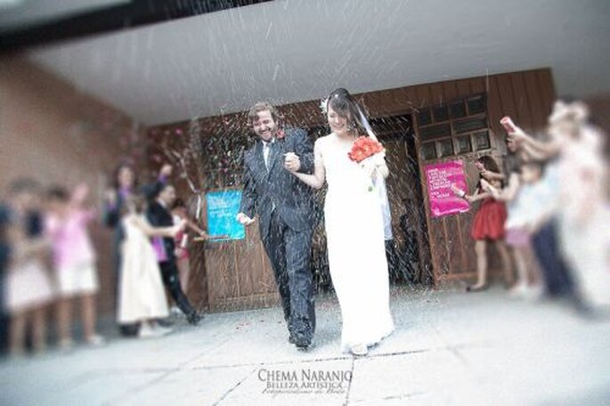 Das strahlende Brautpaar! - Foto Chema Naranjo